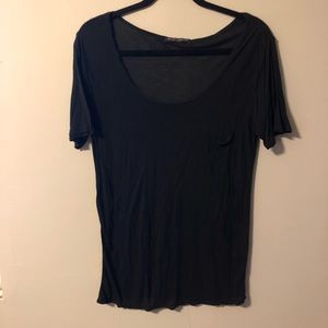 BRANDY MELVILLE Semi Sheer Blue Top Size S